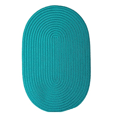 Winston Porter Mcintyre Turquoise Outdoor Area Rug; Oval 3' x 5'