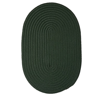 Winston Porter Mcintyre Dark Green Outdoor Area Rug; Oval 7' x 9'