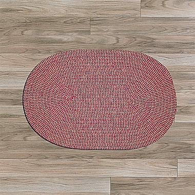 Winston Porter Hale Pink Outdoor Area Rug; Oval 10' x 13'