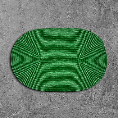 Winston Porter Mcintyre Green Outdoor Area Rug; Oval 8' x 11'