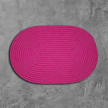 Winston Porter Mcintyre Pink Outdoor Area Rug; Oval 2' x 8'