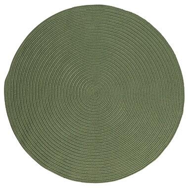 Winston Porter Mcintyre Moss Green Indoor/Outdoor Area Rug; Round 8'