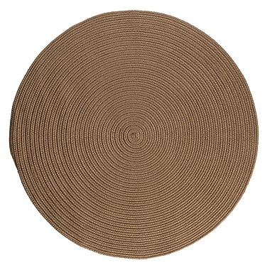 Winston Porter Mcintyre Brown Indoor/Outdoor Area Rug; Round 8'