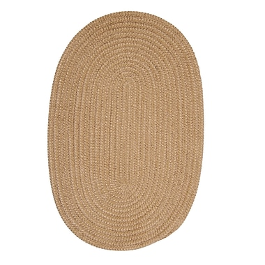 Winston Porter Hale Buff Check Indoor/Outdoor Area Rug; Oval 10' x 13'
