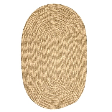 Winston Porter Hale Pale Banana Check Indoor/Outdoor Area Rug; Oval 2' x 4'