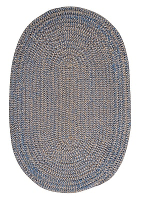 Winston Porter Hale Blue Ice Check Indoor/Outdoor Area Rug; Oval 2' x 4'