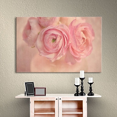 Winston Porter Pink Bouquet Photographic Print on Wrapped Canvas; 16'' H x 24'' W x 2'' D