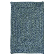 Winston Porter Hawkins Deep Sea Indoor / Outdoor Area Rug; 2' x 3'
