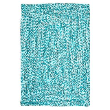 Winston Porter Hawkins Turquoise Indoor/Outdoor Area Rug; 7' x 9'