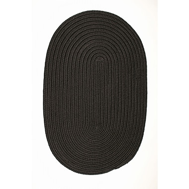 Winston Porter Mcintyre Black Indoor/Outdoor Area Rug; Oval 2' x 3'