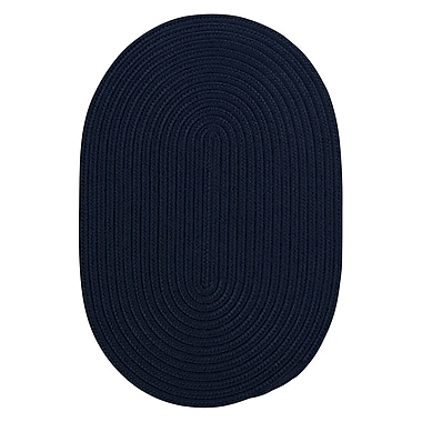 Winston Porter Mcintyre Navy Indoor/Outdoor Area Rug; Round 8'