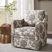Alcott Hill Brick and Barrel Swivel Arm Chair
