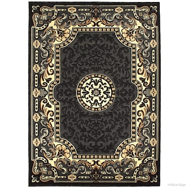 Fleur De Lis Living Berwick High-Quality Woven Double Shot Drop-Stitch Carving Gray Area Rug