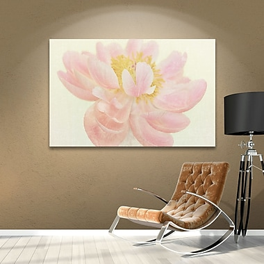 Winston Porter Nonchalant Peony Painting Print on Wrapped Canvas; 12'' H x 18'' W x 2'' D