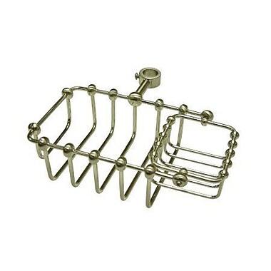 Elements of Design Vintage Shower Caddy; Satin Nickel