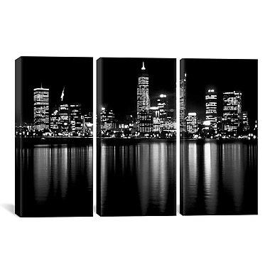 Latitude Run Downtown City 3 Piece Photographic Print on Canvas Set; 40'' H x 60'' W x 0.75'' D