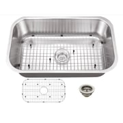 16 Gauge Stainless Steel 30'' x 18'' Undermount Kitchen Sink  with Grid Set and Drain Assembly