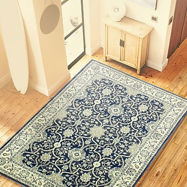 Ophelia & Co. Caton Dark Blue Area Rug; 8'7'' x 11'7''