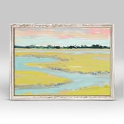 Red Barrel Studio 'Abstract Marsh' Framed Print on Canvas