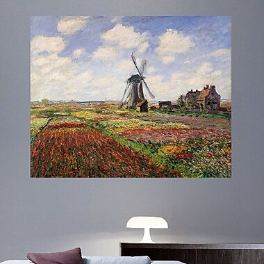 Charlton Home 1886 'Tulip Fields w/ the Rijnsburg Windmill' by Claude Monet Painting Print Poster