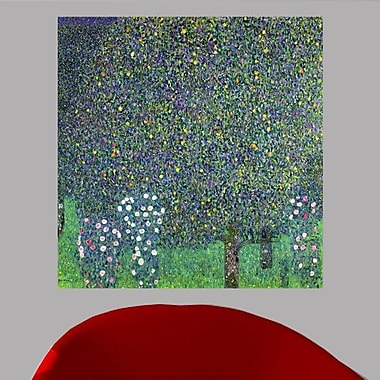 Charlton Home Klimt 'Roses Under the Trees' Oil Painting Print Poster; 23.5'' H x 24'' W