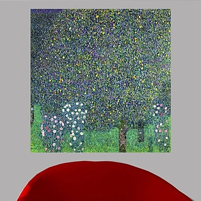 Charlton Home Klimt 'Roses Under the Trees' Oil Painting Print Poster; 47'' H x 48'' W