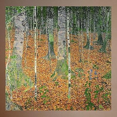 Charlton Home 1903 Klimt 'The Birch Wood' Oil Painting Print Poster; 35.5'' H x 36'' W