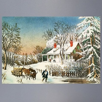 Charlton Home 'Bringing Home the Logs' Painting Print Poster; 16.5'' H x 24'' W