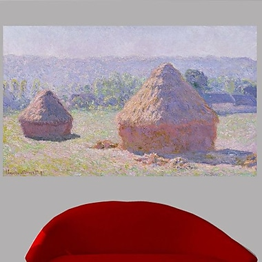 Charlton Home 1891 'The Haystacks' by Claude Monet Painting Print Poster; 14'' H x 24'' W