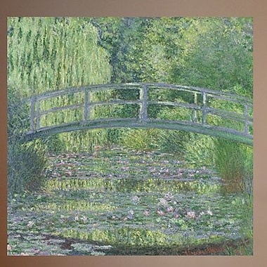 Charlton Home 1899 'The Waterlily Pond' by Claude Monet Painting Print Poster; 46.5'' H x 48'' W