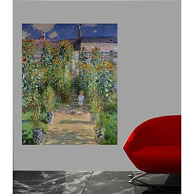 Charlton Home Claude Monet 'The Artist's Garden at Vetheuil' Painting Print Poster; 48'' H x 38'' W