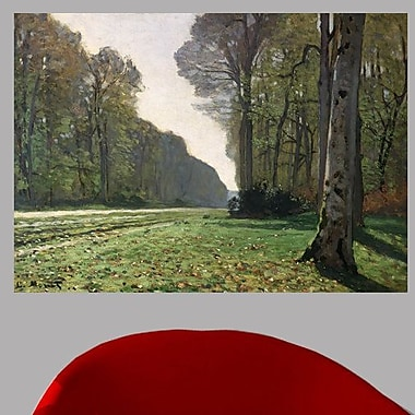 Charlton Home 1865 'The Road to Bas-Breau' by Claude Monet Painting Print Poster; 34''H x 48'' W