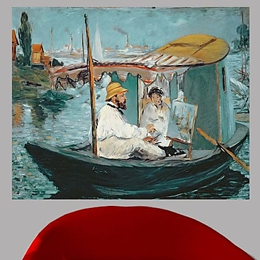 Charlton Home 1874 'Manet in His Floating Studio' by Edouard Manet Oil Painting Print Poster
