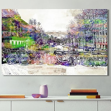 Ivy Bronx 'Amsterdam III' Graphic Art Print on Wrapped Canvas; 18'' H x 30'' W