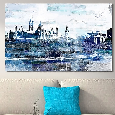 Ivy Bronx Studio 'Parliament Hill, Ottawa I' Graphic Art Print on Wrapped Canvas; 28'' H x 48'' W