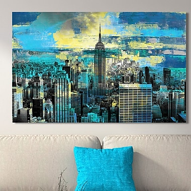 Ivy Bronx 'Empire State Building I' Graphic Art Print on Wrapped Canvas; 28'' H x 48'' W
