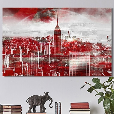 Ivy Bronx 'Empire State Building III' Graphic Art Print on Wrapped Canvas; 28'' H x 48'' W