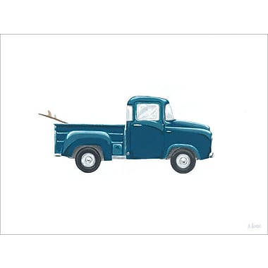 Ivy Bronx 'Blue Pickup' Print on Canvas; 10'' H x 14'' W