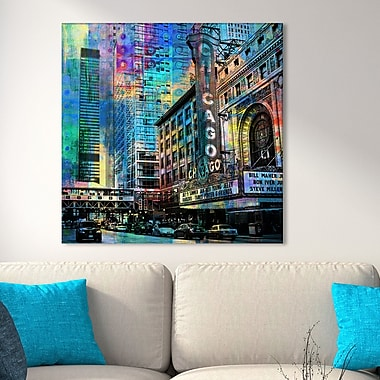 Latitude Run 'Chicago' Graphic Art Print on Wrapped Canvas; 36'' H x 36'' W
