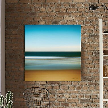 Latitude Run 'Sea Stripes I' Painting Print on Wrapped Canvas; 28'' H x 28'' W