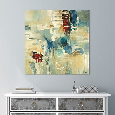 Latitude Run 'Instinctual Beauty I' Painting Print on Wrapped Canvas; 36'' H x 36'' W