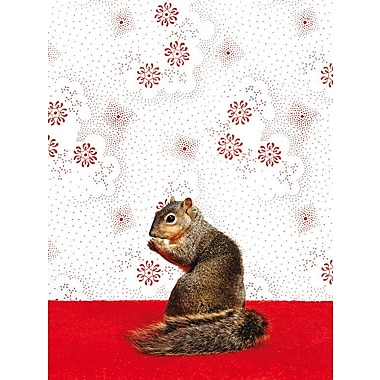 East Urban Home 'Squirrel on Pattern' Photographic Print on Canvas; 18'' H x 14'' W