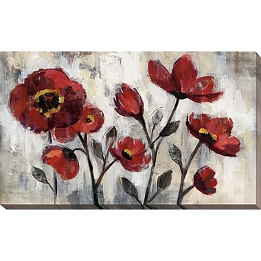Red Barrel Studio 'Floral Simplicity' Print on Wrapped Canvas; 36'' H x 60'' W