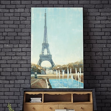 Red Barrel Studio 'Eiffel Tower' Painting Print on Wrapped Canvas; 30'' H x 18'' W