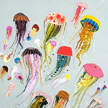 Bloomsbury Market 'Floating Jellyfish' Print on Wrapped Canvas