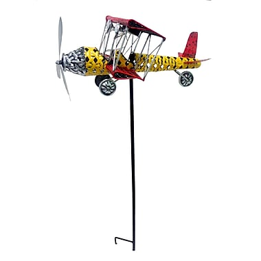Continental Art Center Solar Lighted Plane Garden Stake
