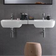 Bissonnet Moda Ceramic 26'' Wall-Mount Bathroom Sink w/ Overflow