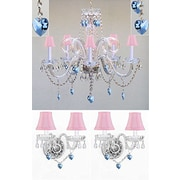 Rosdorf Park Breckler 3 Piece Shaded Crystal Chandelier and Wall Sconce Lighting Set w/ Hearts
