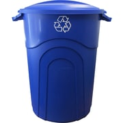 United Solutions Recycling Injection Molded 32 Gallon Manual Lift Trash Can