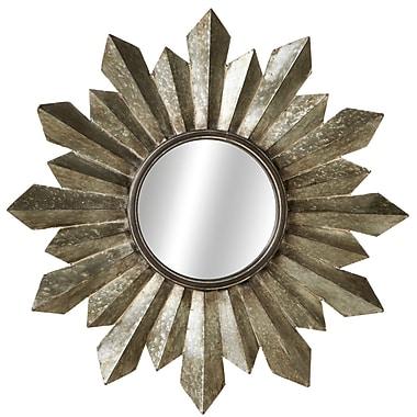17 Stories Galvanized Sunburst Wall Mirror
